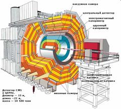 схема устройства большого адронного коллайдера