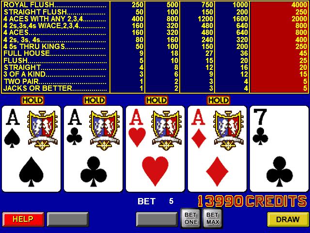 Режим Auto Hold в видео-покере