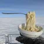 Скорость замерзания лапши вАнтарктиде удивила экспериментаторов